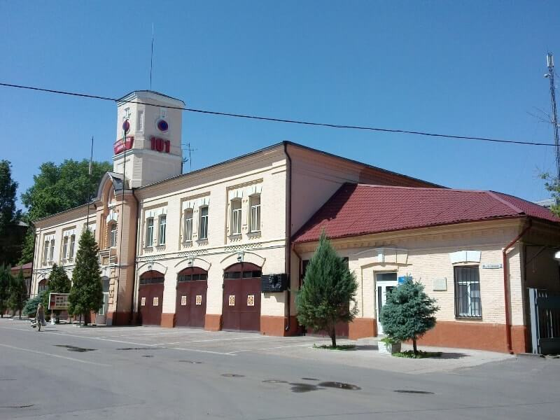 The fire-fighting station