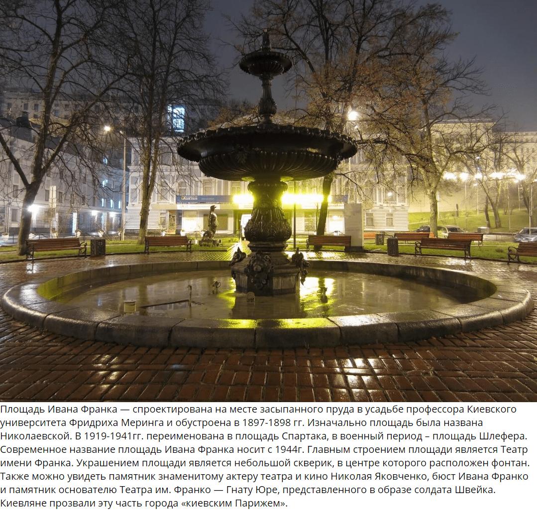Площадь Ивана Франка