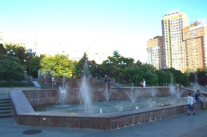 Zankovetskaya garden square
