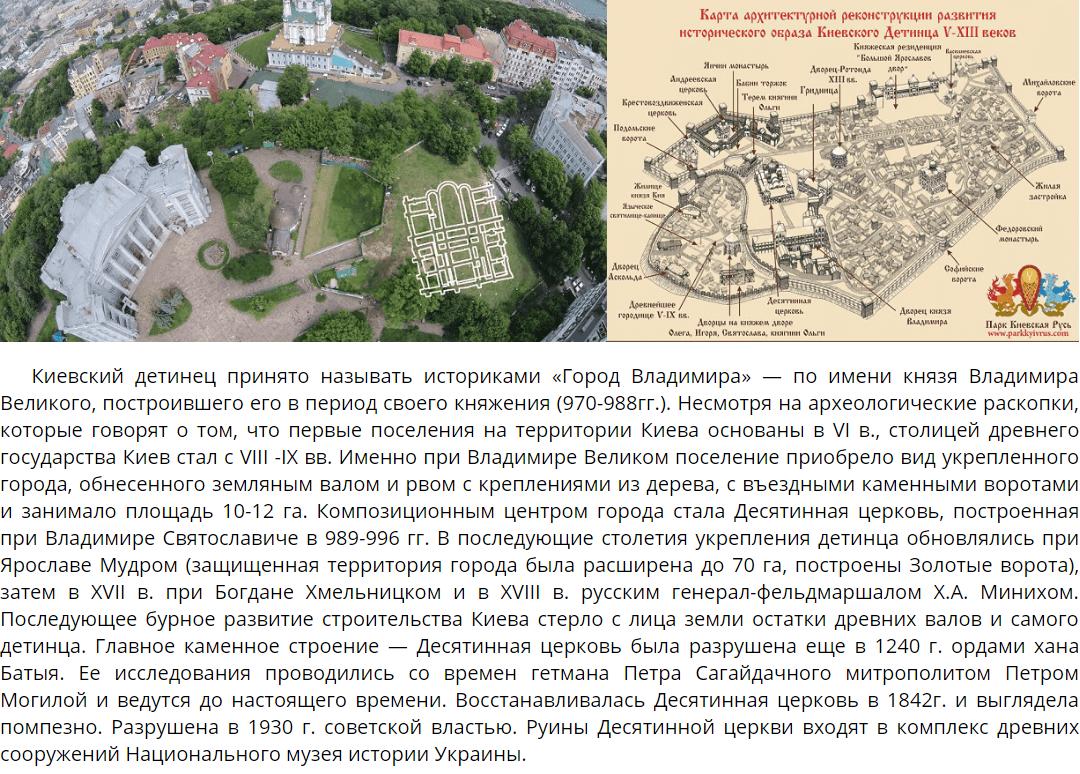 Киевский детинец и фундаменты