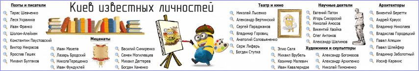 Известные личности Киева