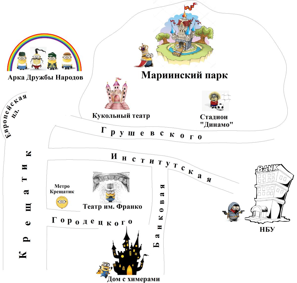 Липки Карта