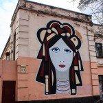Mural on the Borysohlibska Street, 10-a