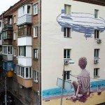 Mural on the Moskovska Street, 36