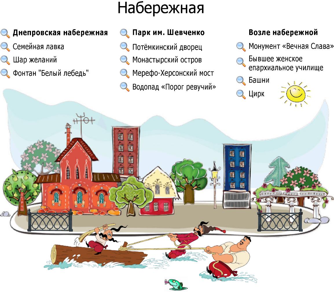 Экскурсии по Днепровской набережной