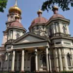 Temples at the Dnipro embankment