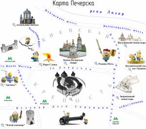 Карта Печерска