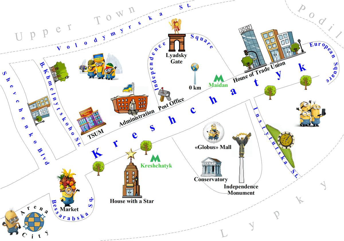 Kreshchatyk map