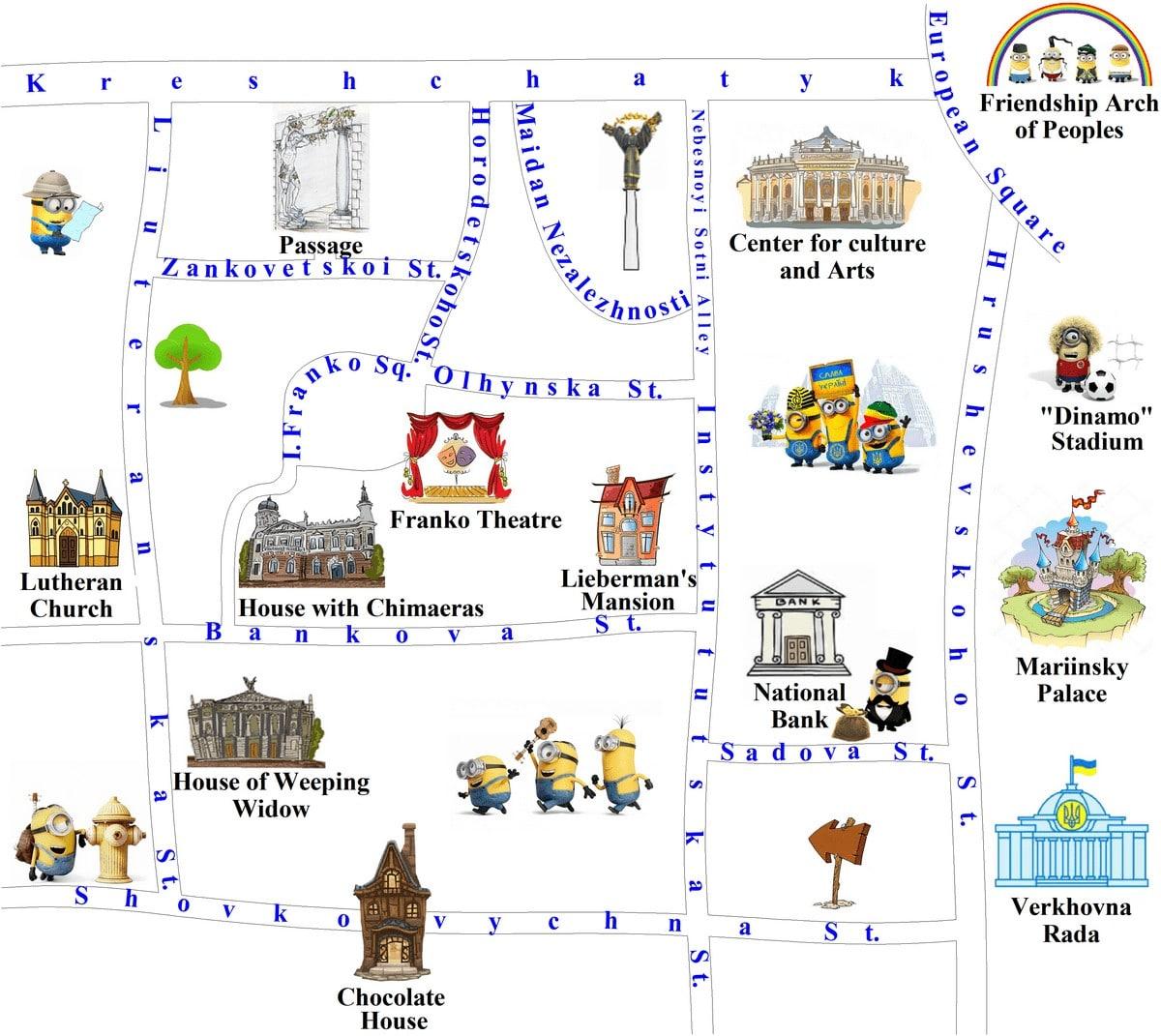 Lypky map