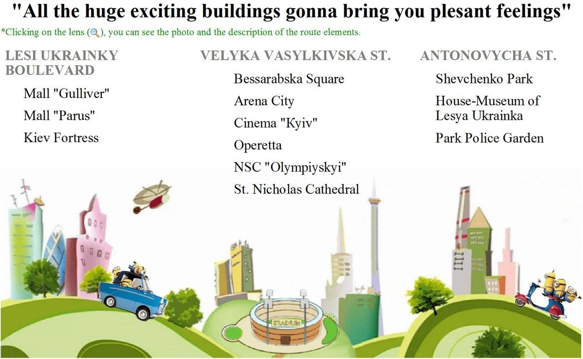 New development Kiev excursion