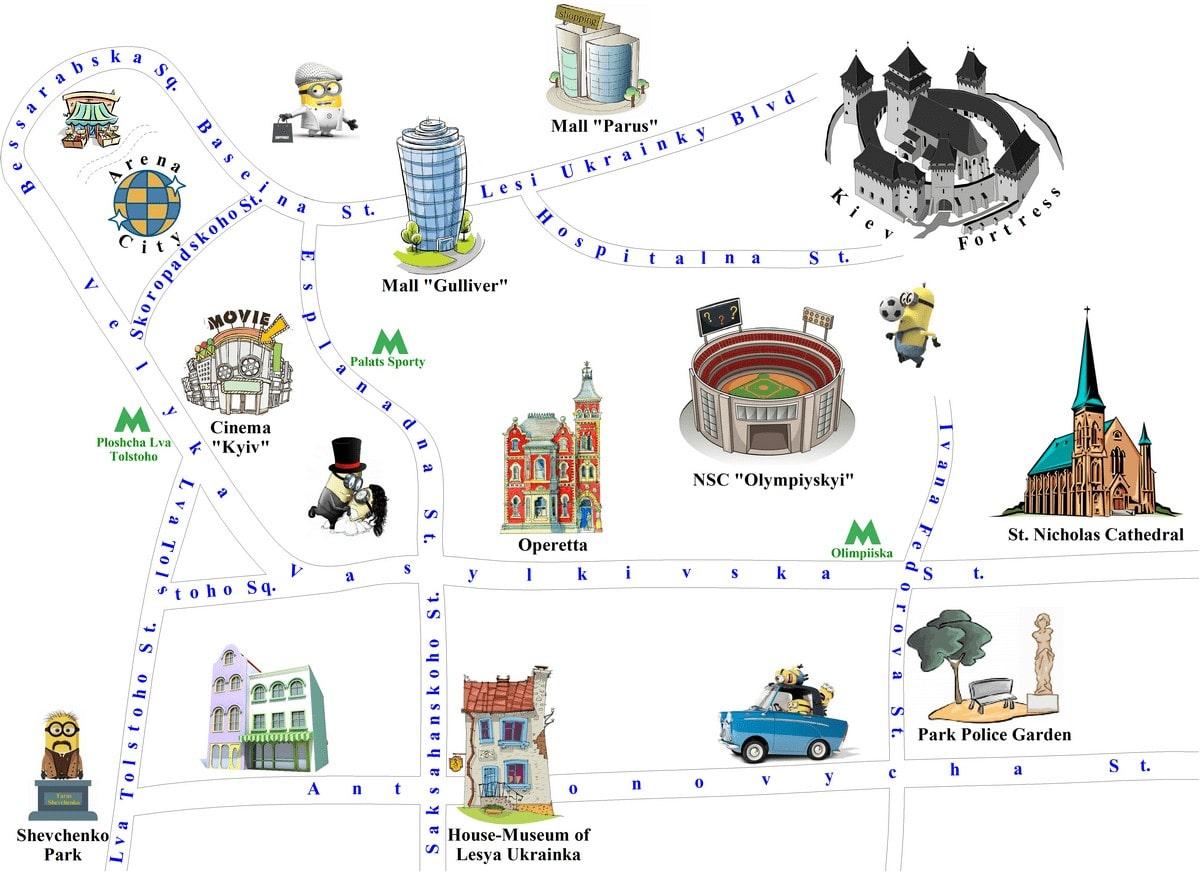 New development Kiev map