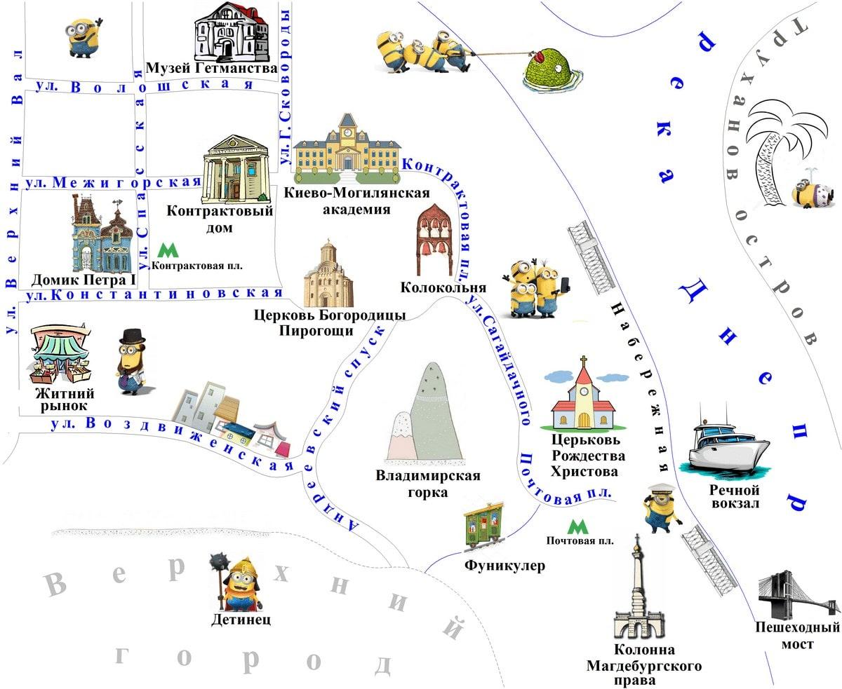 Карта Подола