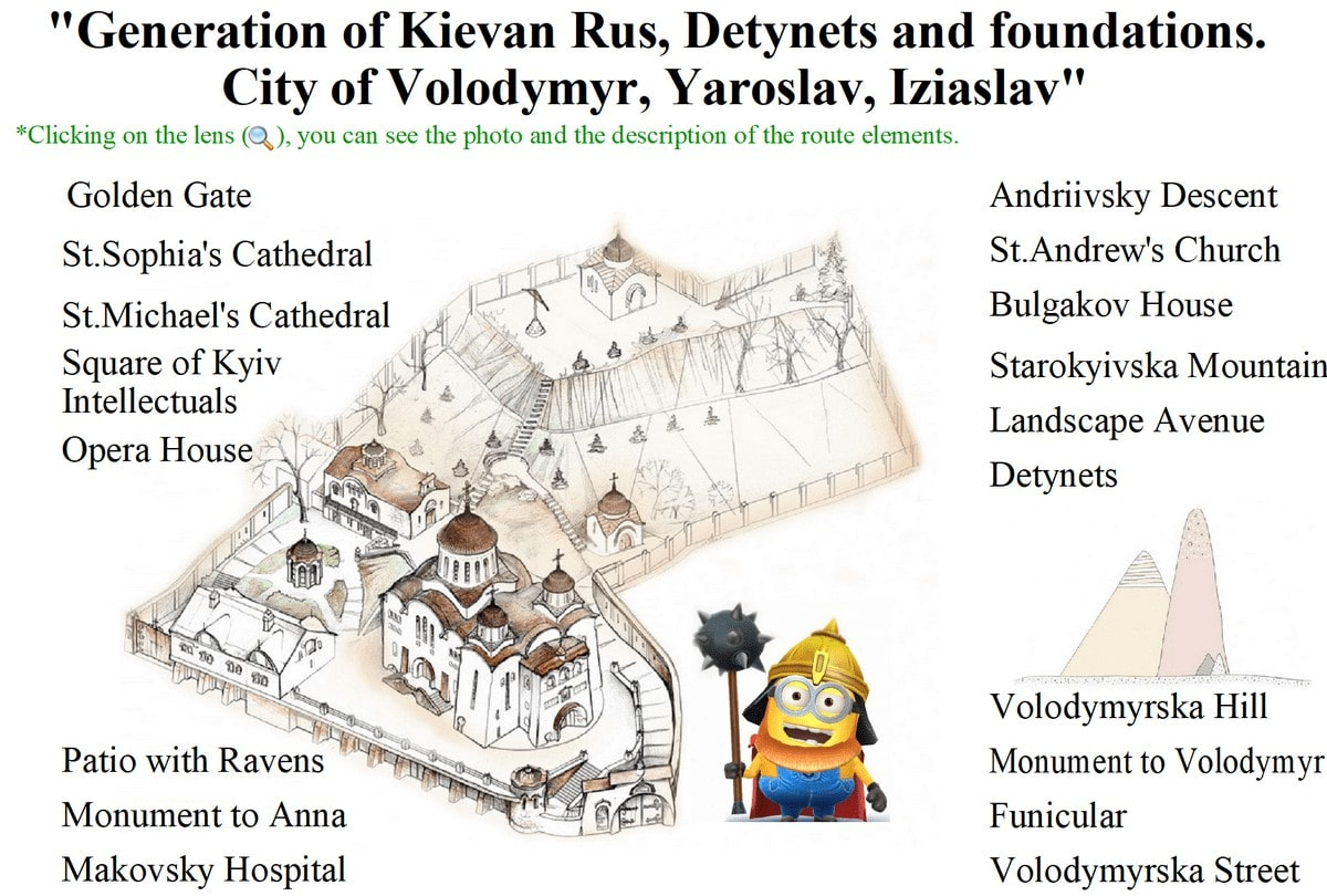 Excursion Upper Town Kiev