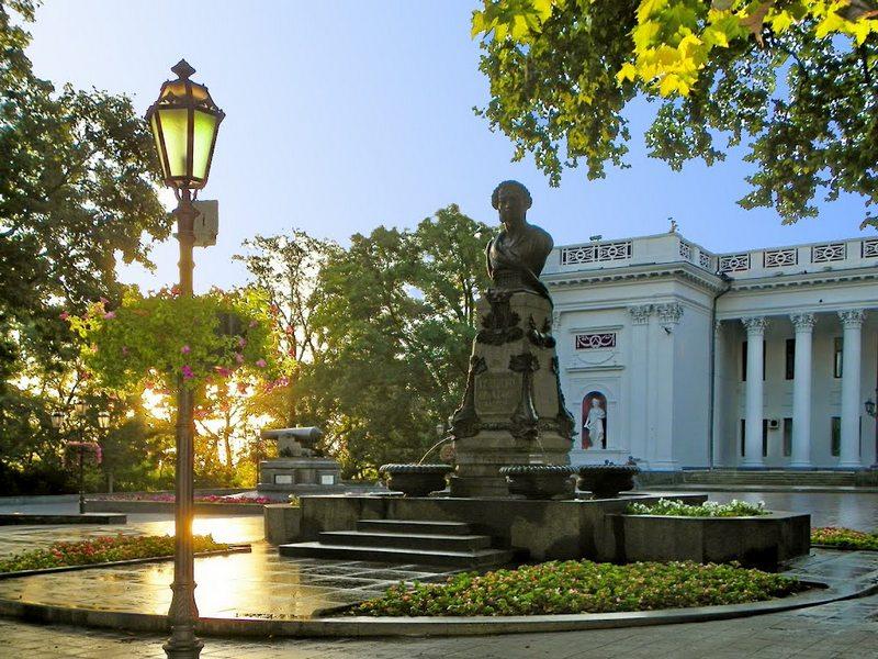 Fountain monument to Pushkin