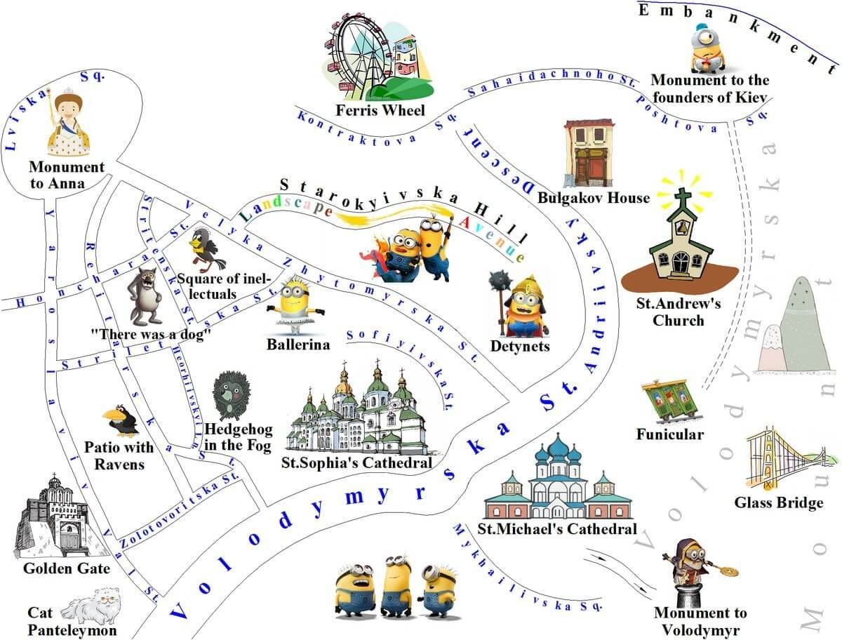 Tour for kids and children map