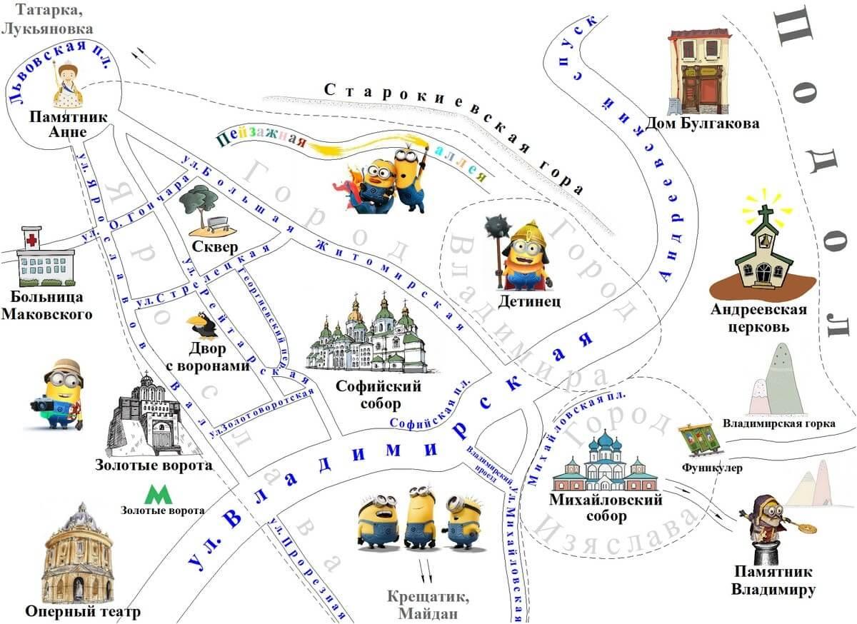 Карта Верхнего города