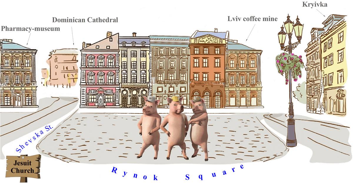 Map of Lviv dungeons