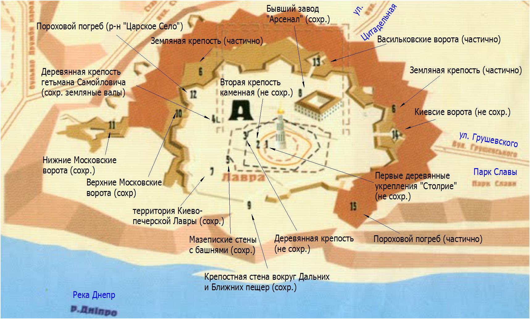 Цитадель Киево-Печерской крепости