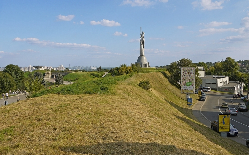 earth ramparts of the Kyiv Citadel