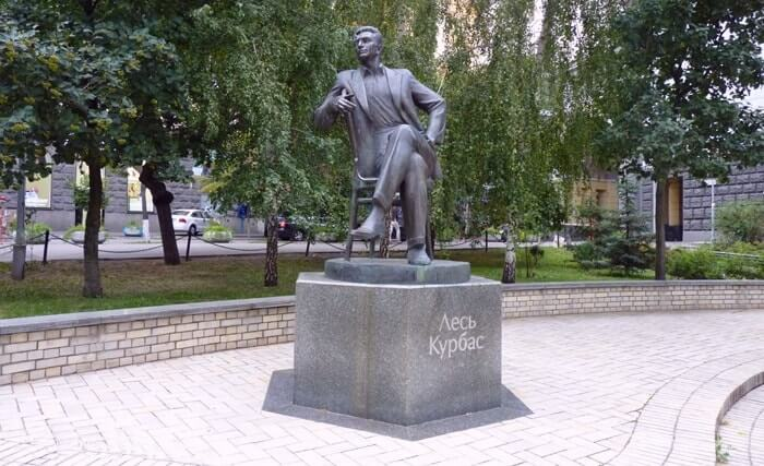 The monument to Les Kurbas